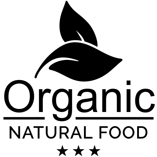 Organic Natural Food Rubber Stamp Imprint Example