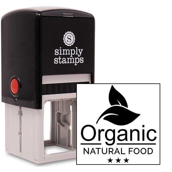 Organic Natural Food Rubber Stamp