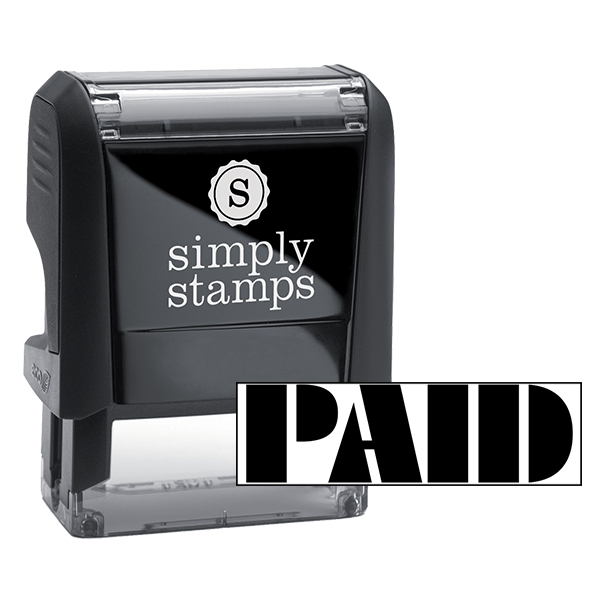 PAID Art Deco Stock Stamp