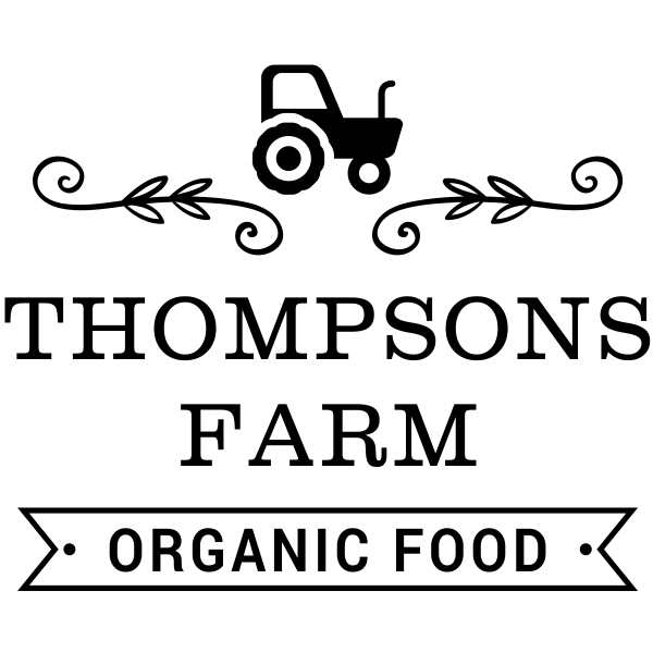 Thompsons Farm Organic Food Rubber Stamp Imprint Example