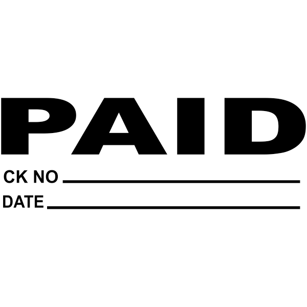 PAID Plus Info Stock Stamp Imprint