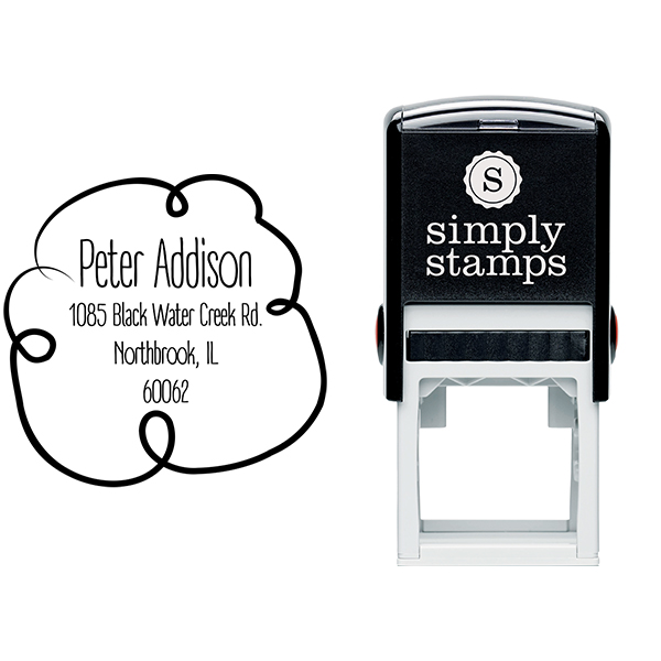 Addison Cloud Border Address Stamp Body and Design