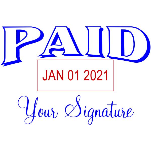 Paid Signature Date Stamp