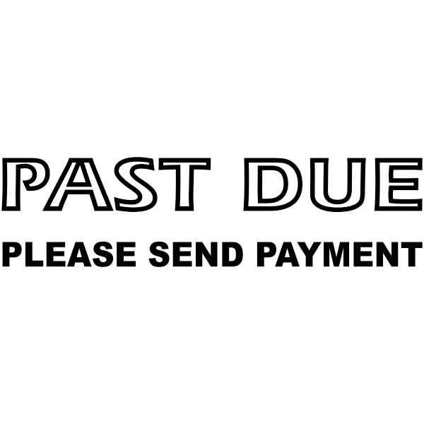 PAST DUE PLEASE SEND PAYMENT Stock Stamp Imprint