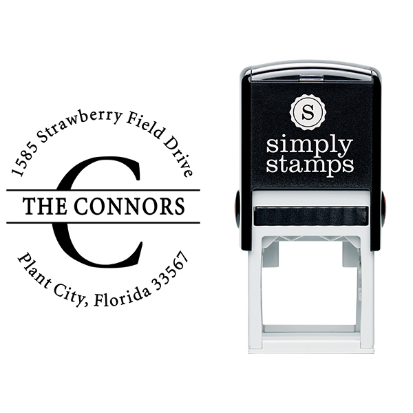 The Connors Family Return Address Stamp Body and Design