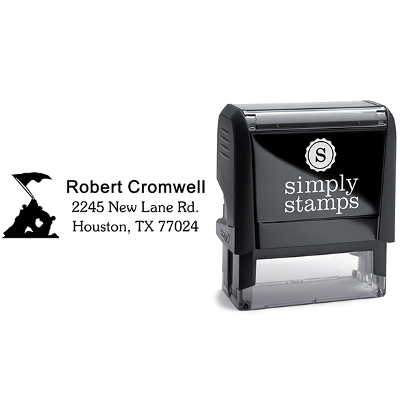 Iwo Jima Return Address Stamp Body and Design