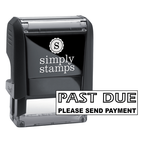 PAST DUE Bold Stock Stamp