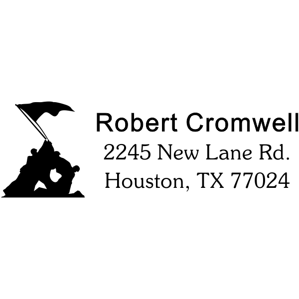 Iwo Jima Return Address Stamp