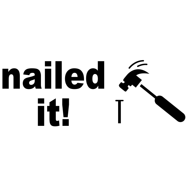 Nailed It! Rubber Stamp