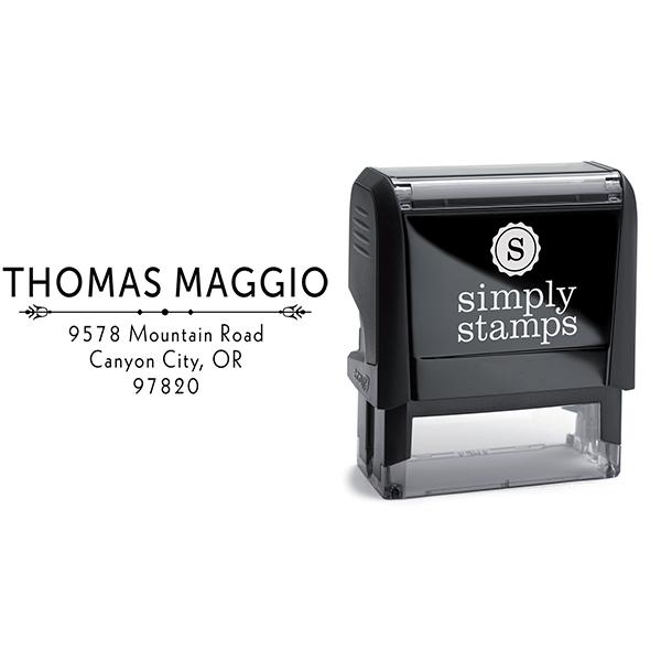 Maggio Deco Rubber Address Stamp Body and Design
