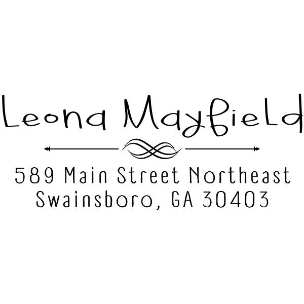 Mayfield Decorative Arrow Address Stamp