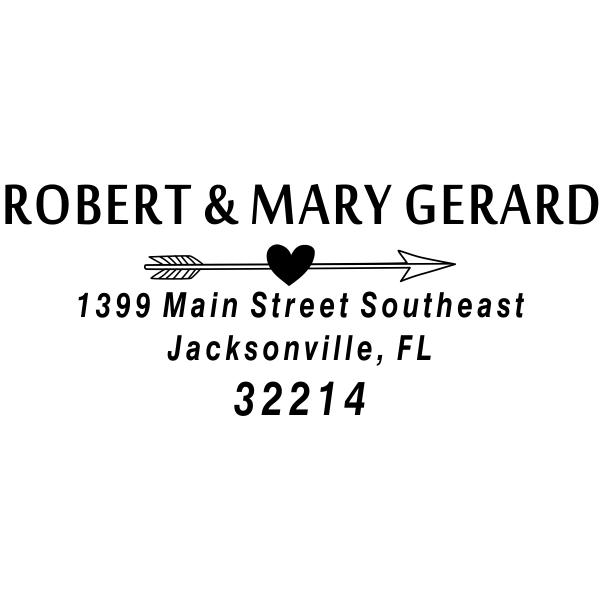 Original Gerard Heart Arrow Address Stamp