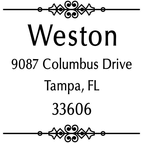 Weston Vintage Address Stamp