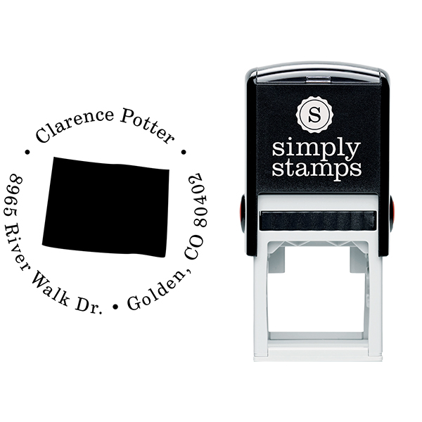 Colorado Round Address Stamp Body and Design