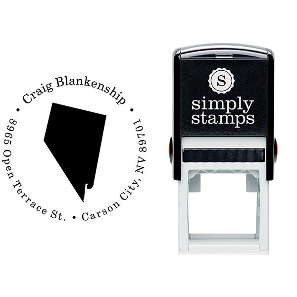 Nevada Round Address Stamp Body and Design