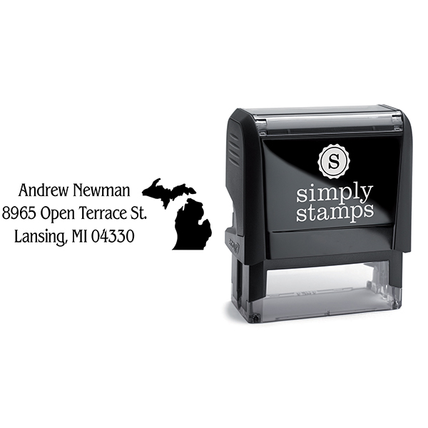 Michigan Return Address Stamp Body and Design