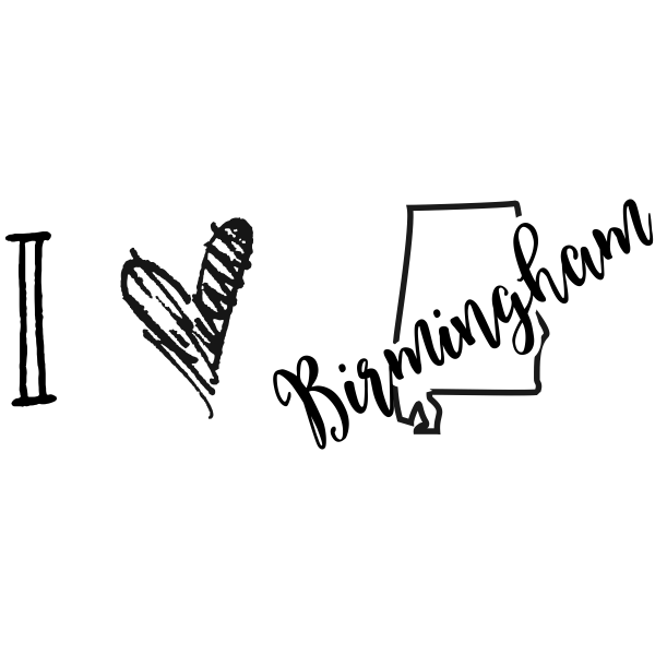 I Love Alabama Rubber Stamp