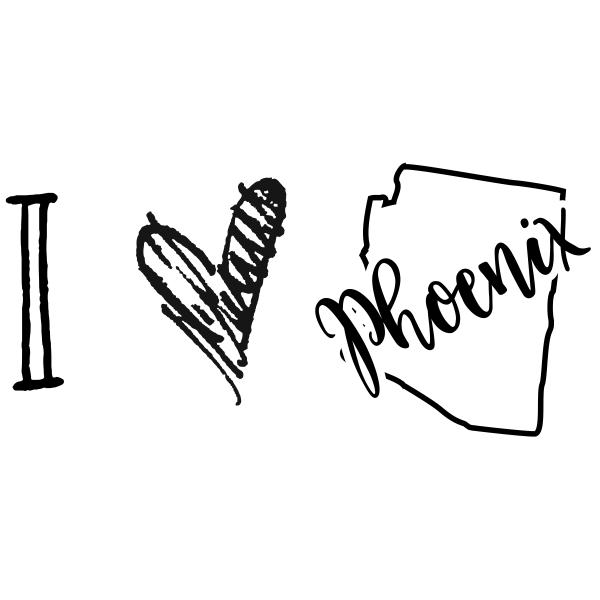 I Love Arizona Rubber Stamp