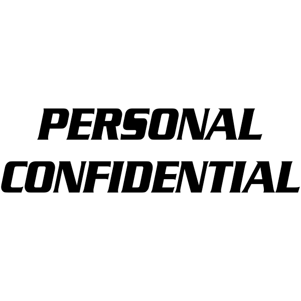 PERSONAL CONFIDENTIAL Stock Stamp Imprint