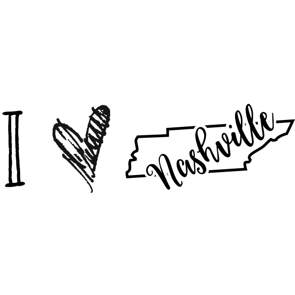 I Love Tennessee Rubber Stamp