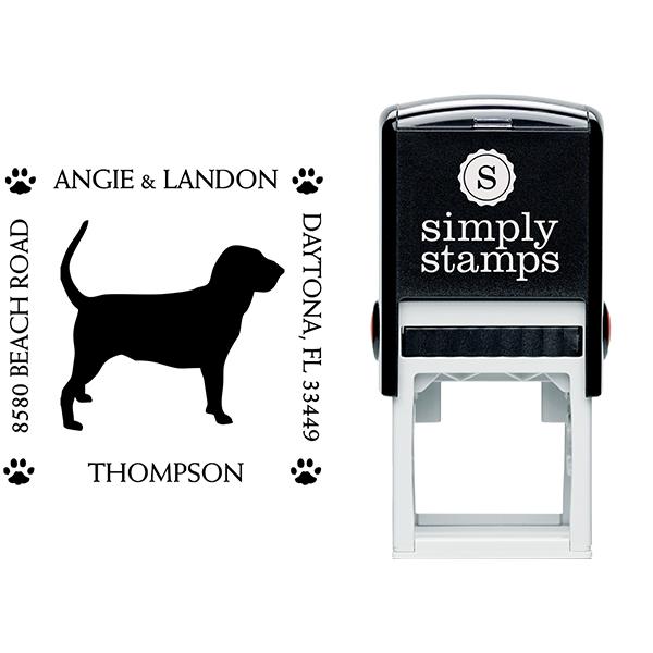 Hound Dog Pet Lover Dog Address Stamp Body and Design