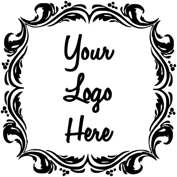 Deco Border Fancy Custom Rubber Logo Stamp