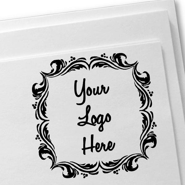 Deco Border Logo Stamp  Imprint Example