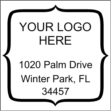 Quote Square Logo Address Stamper