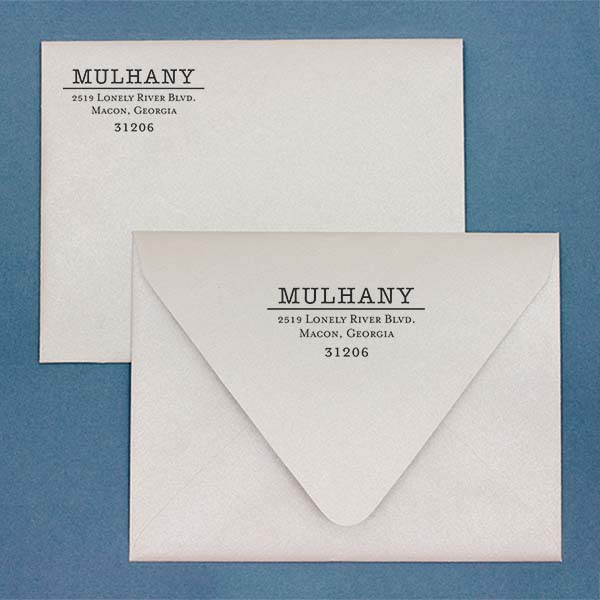 Mulhany Return Address Stamp Imprint Example