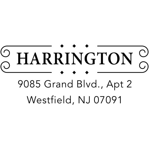 Harrington Diamond Deco Return Address Stamp