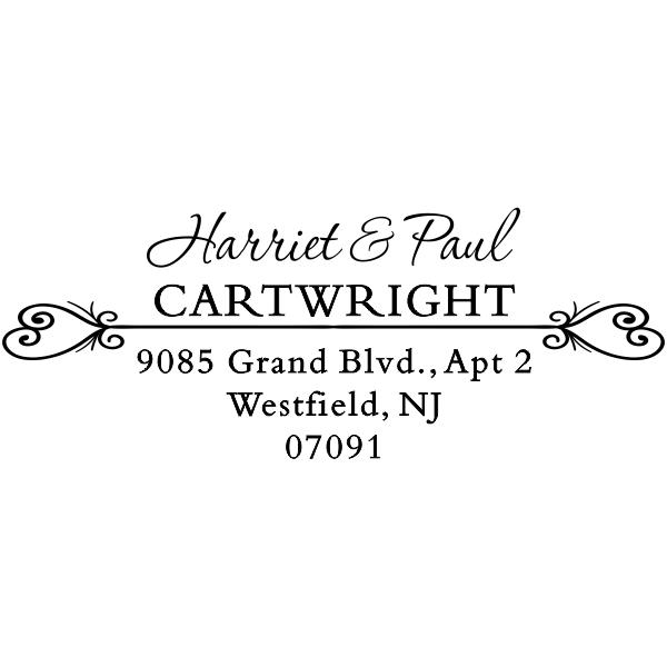Cartwright Love Hearts Address Stamper