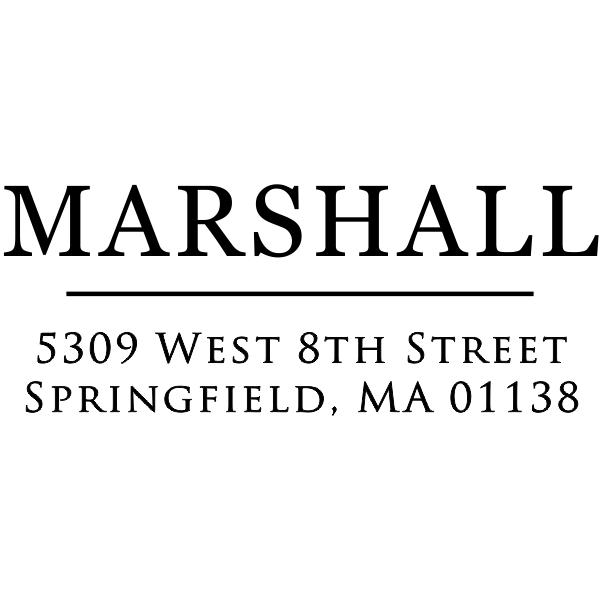 Large Last Name Custom Address Stamper