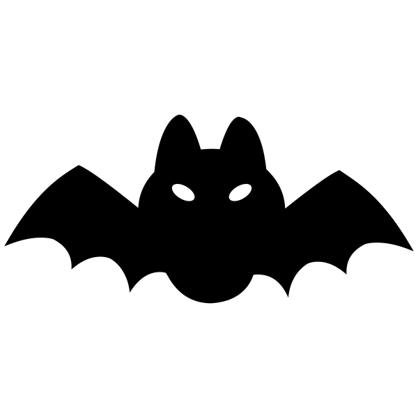 Short Fat Bat Halloween Craft Rubber Stamp