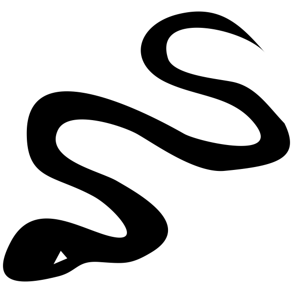 Snake Halloween Craft Rubber Stamp