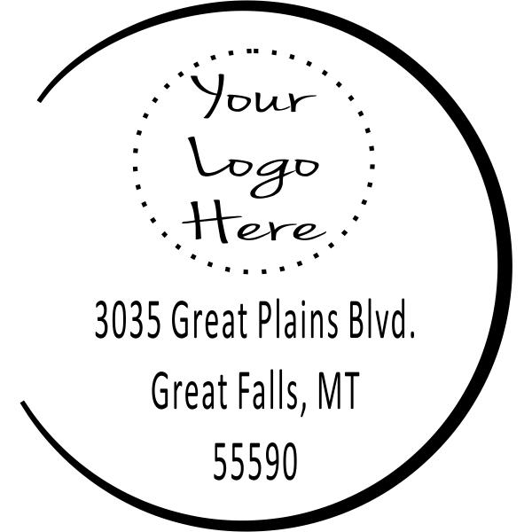 Open Semi Circle Logo Stamper