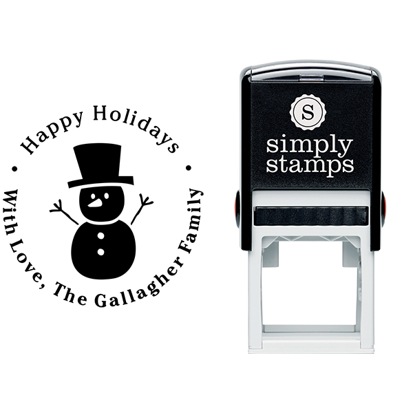 Snowman Hands Up Return Stamp Body and Design