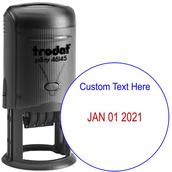 Custom Top Line Round Dater