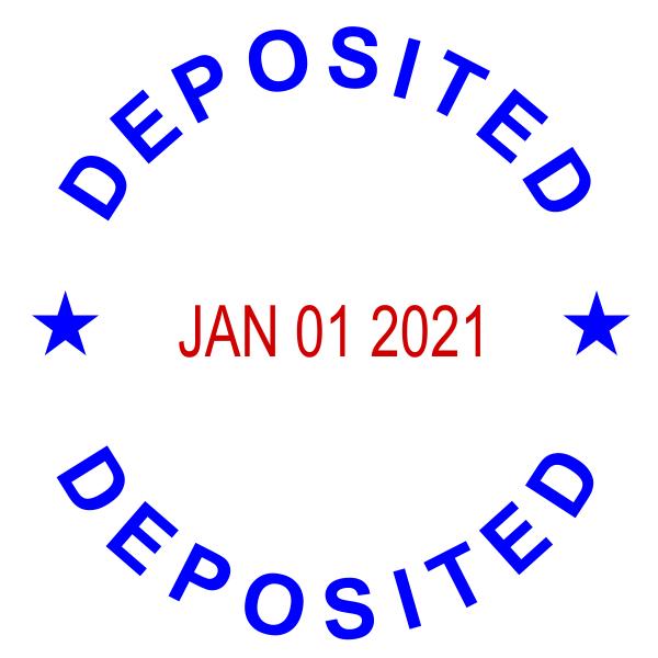 Self-Inking Dater Deposited Stamper