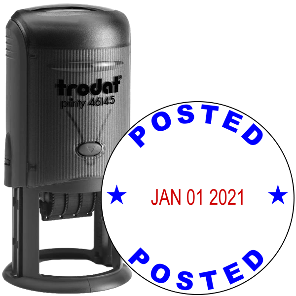 Round Self-Inking Dater Posted Stamp