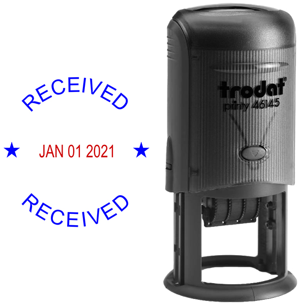 Round Self-Inking Dater Received Stamp Body and Design