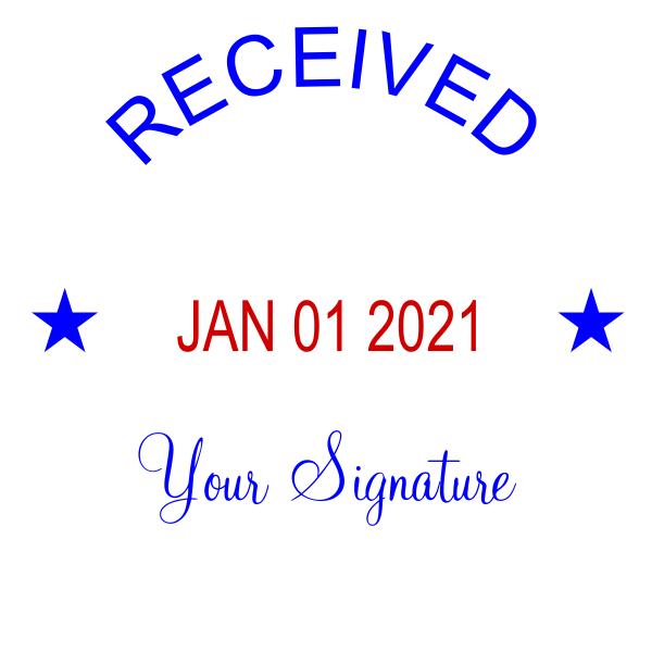 Custom Self-Inking Dater w/ Signature Stamp