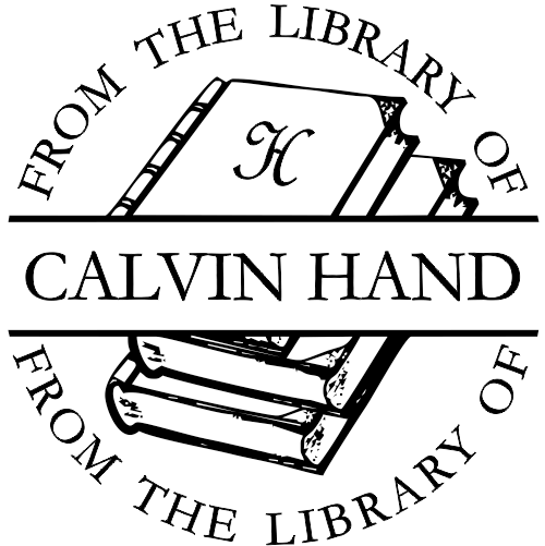 Round From The Library Of - Self-Inking Rubber Stamp