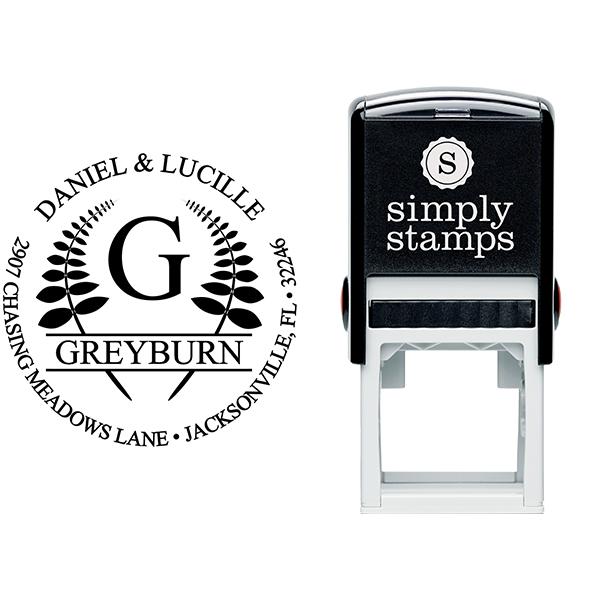 Leaf Emblem Stamp Stamp Body and Imprint