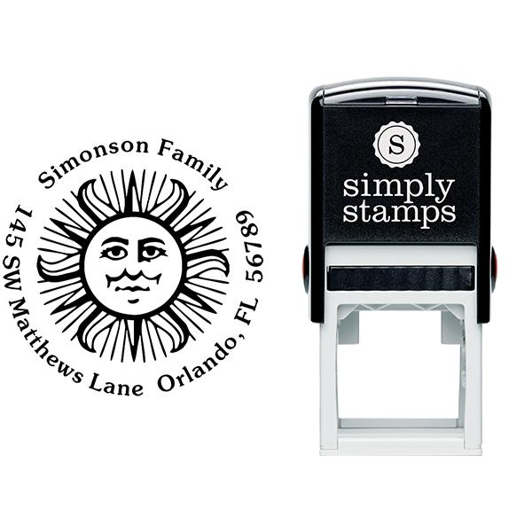 Sun Motif Stamp Body and Design