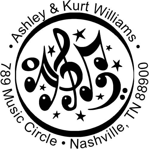 Musical Address Stamp