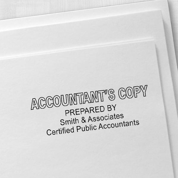 Accountants Copy Stamp Outlined Imprint Example