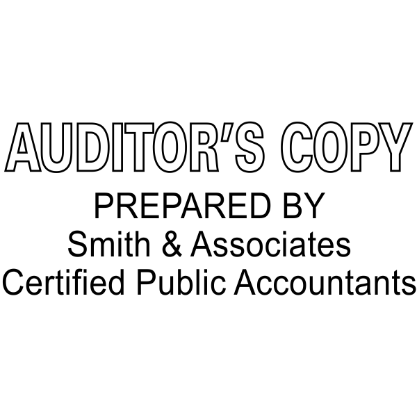 Auditor's Copy Prepared By Company and Certifications