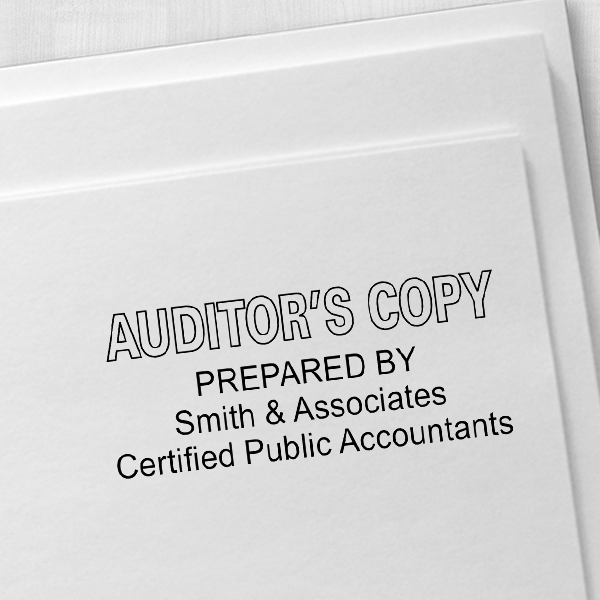 Auditors Copy Stamp Outlined Imprint Example