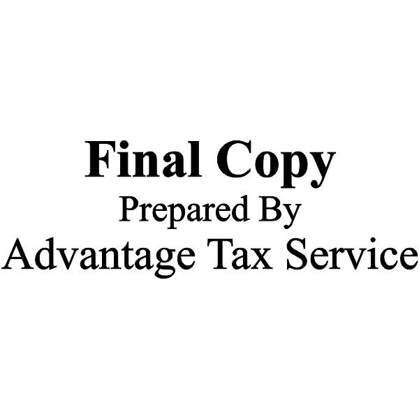 Final Copy Prepared by Company