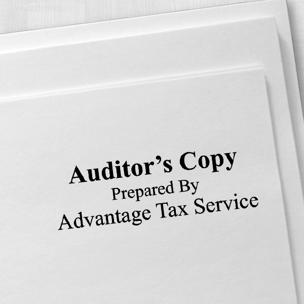 Auditors Copy Stamp Bold Imprint Example